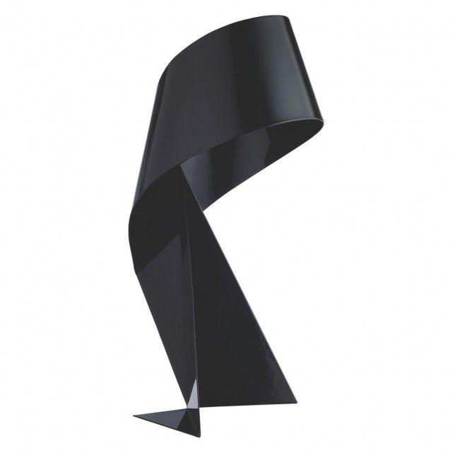 RIBBON Black small metal table lamp | Metal table lamps, Metals ...