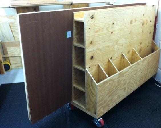 Lumber Storage Rack & Cart - by SWM @ LumberJocks.com ~ woodworking community