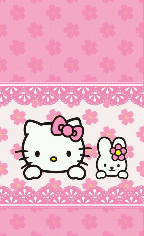 Image Via We Heart It Weheartit Entry 145202286 22479432 Cute Hellokitty Pink Wallpaper