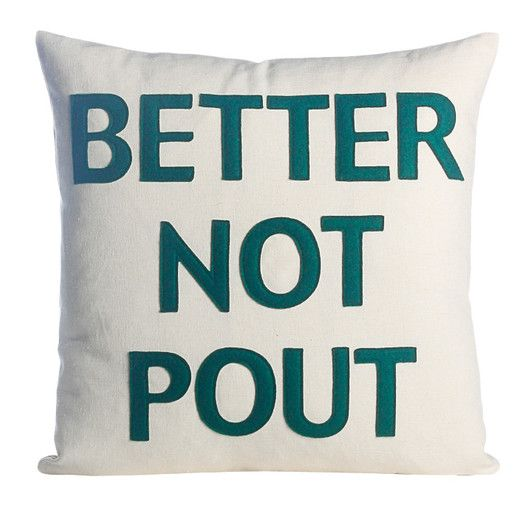Alexandra Ferguson Better Not Pout Felt Throw Pillow