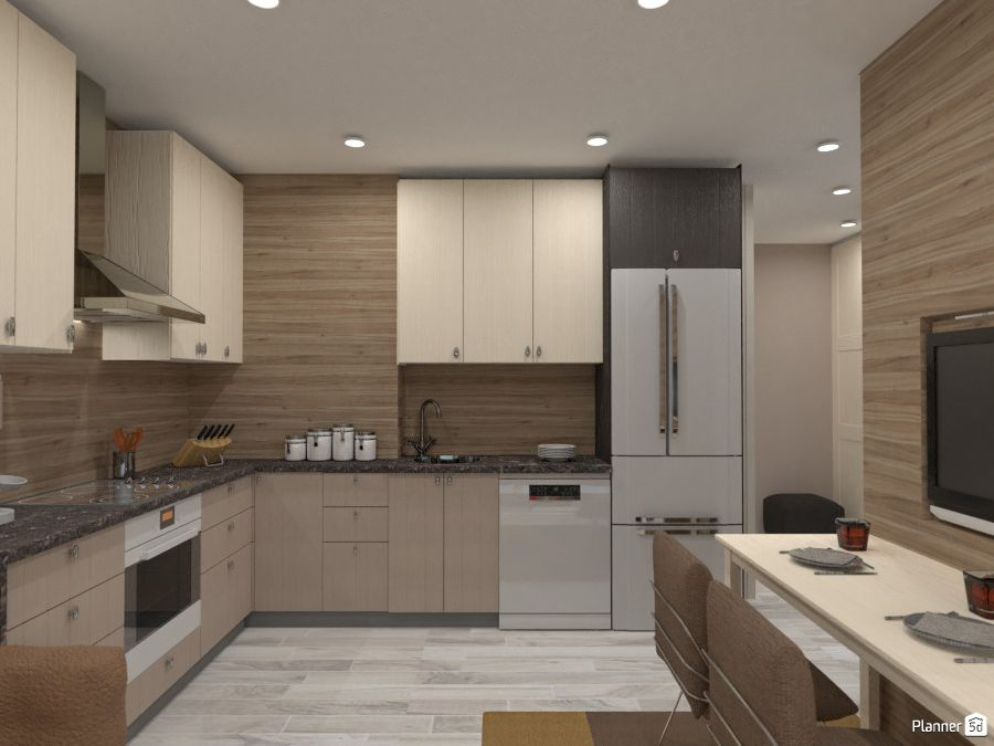 Brown Kitchen Interior Planner 5d Home Design Software Design Your Dream House Brown Kitchen Interior