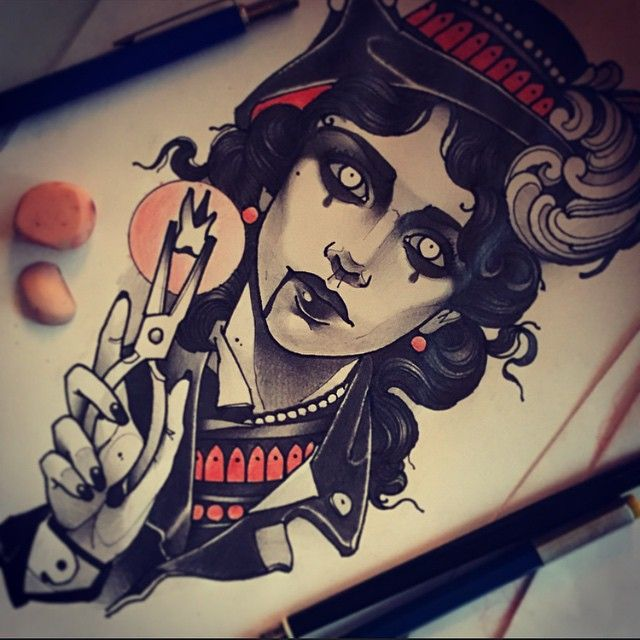 Alluring Neo Traditional Women Tattoos By Vitaly Morozov Tattoo Illustration Tattoos For Women Tattoo Drawings