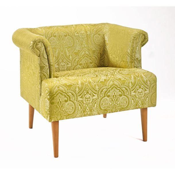 Porta Wohnzimmer, interhome sessel swing stoffbezug gelb gemustert ca. 87 x 71 x 73 cm, Design ideen
