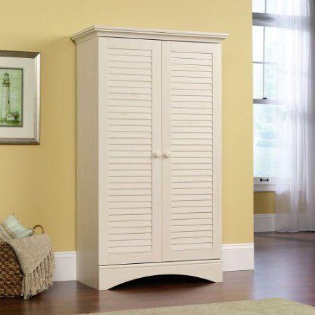 White Bathroom Laundry Storage amazon: antique white bathroom / laundry room / bedroom linen
