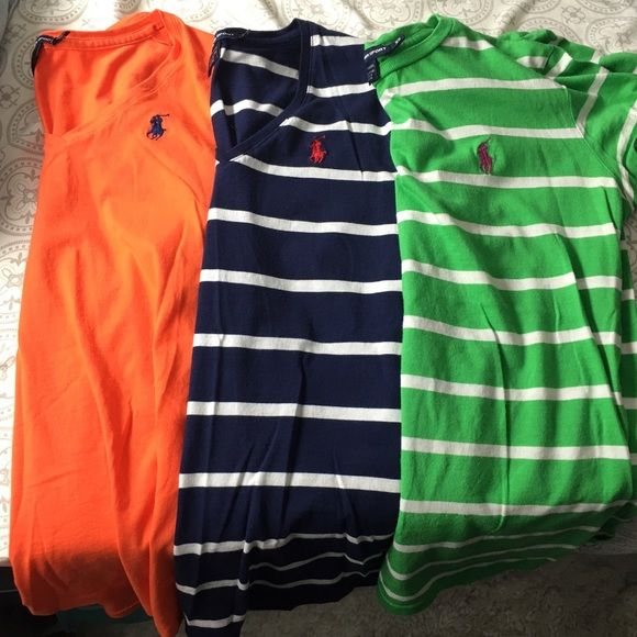 Polo shirts size XS NWOT never worn in perfect condition! 3 polo shirts, 2 v-neck 1 regular Polo by Ralph Lauren Tops Tees - Short Sleeve