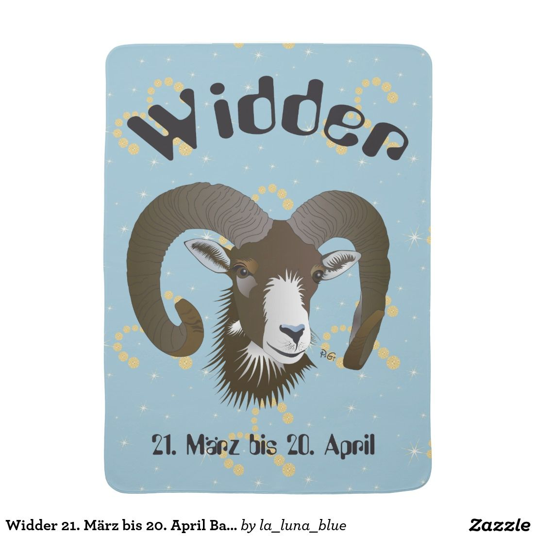 Widder 21 Marz Bis 20 April Babydecke Zazzle Ch Widder