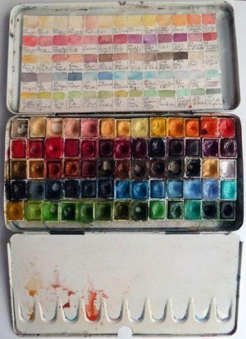 Watercolor Palette Palette Peinture Palette Aquarelle Et Outils