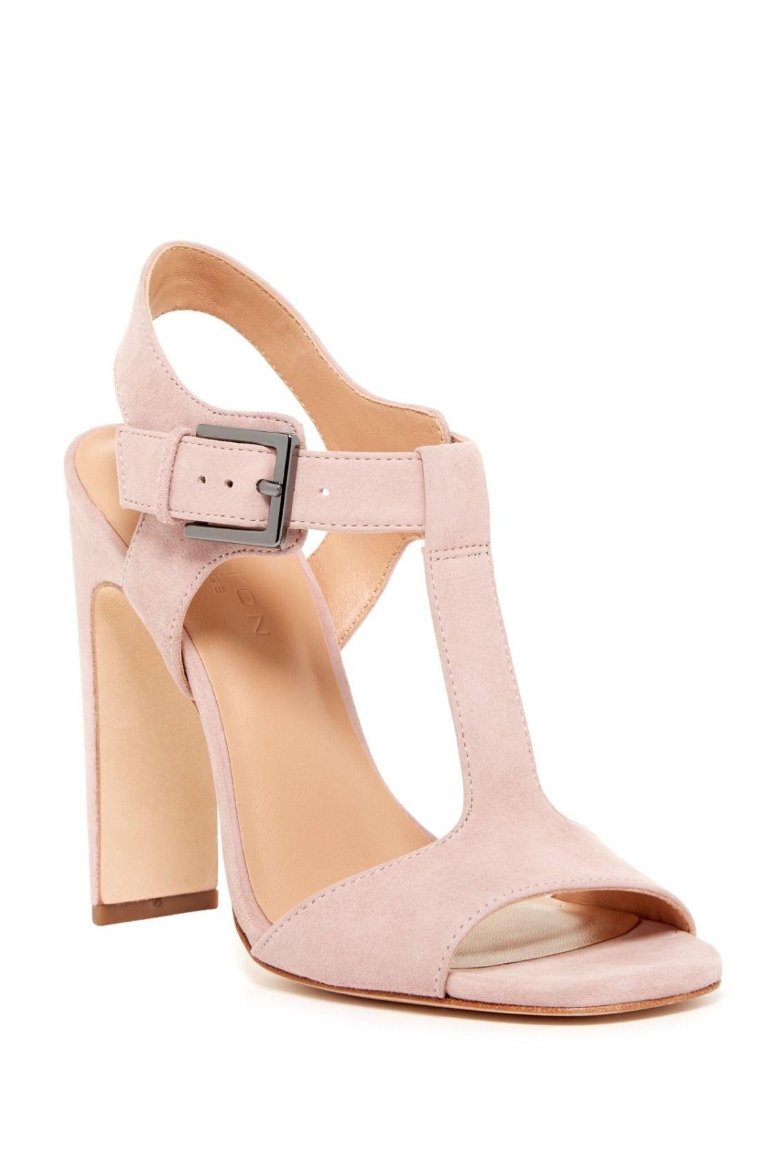 573a826b755 Blush Halston Heritage Vera T-Strap Heel Sandals   Shoes for Days ...