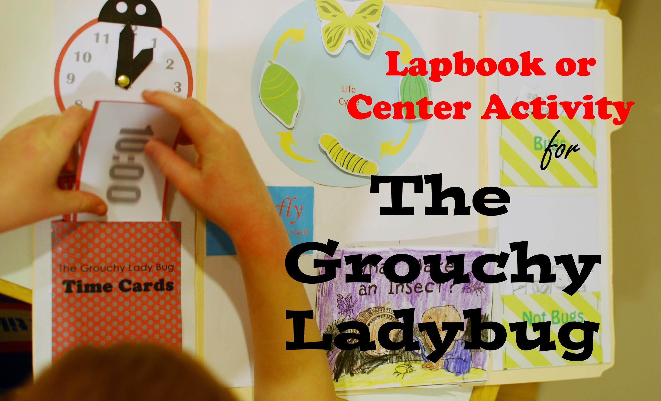 The Grouchy Ladybug Lapbook Or Center Activity