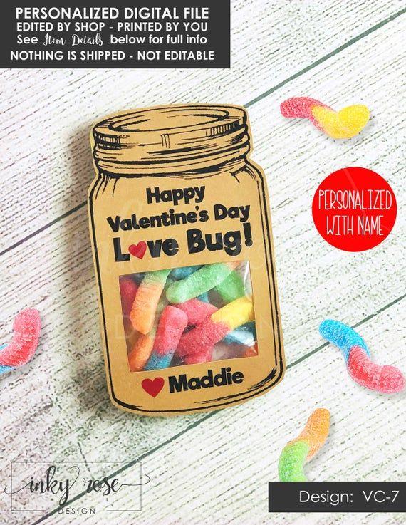 love bug valentine cards for kids printable classroom