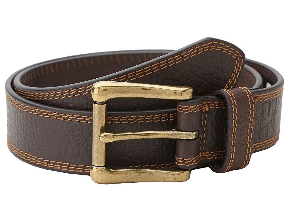 MF Western HDX Triple Stitch Belt Brown Mens Belts Clean and sleek the HDX Triple Stitch Belt from MF Western easily goes with even your most casual outfit Leather belt w...