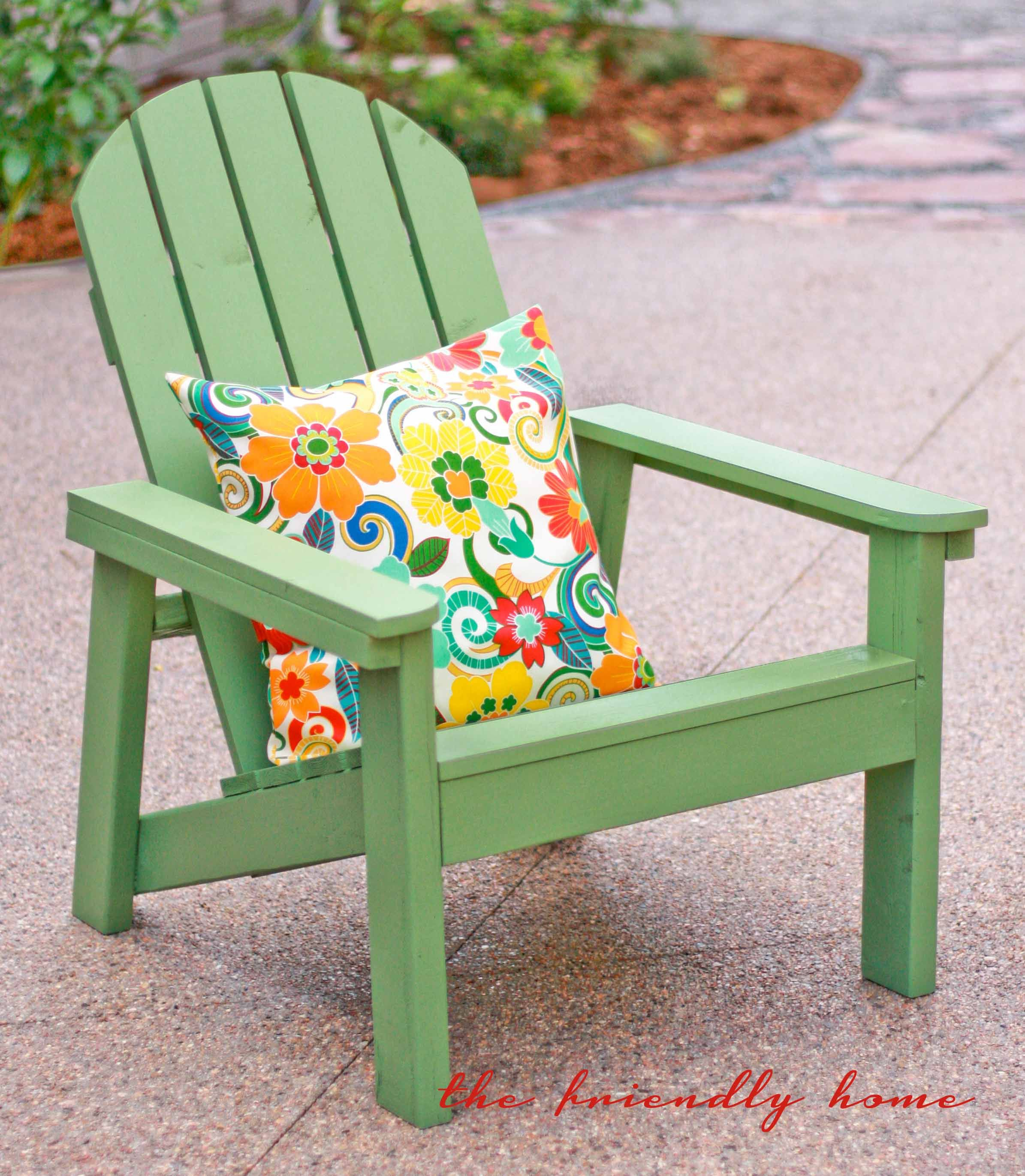 Green Adirondack Chairs Do It Yourself Home Projects