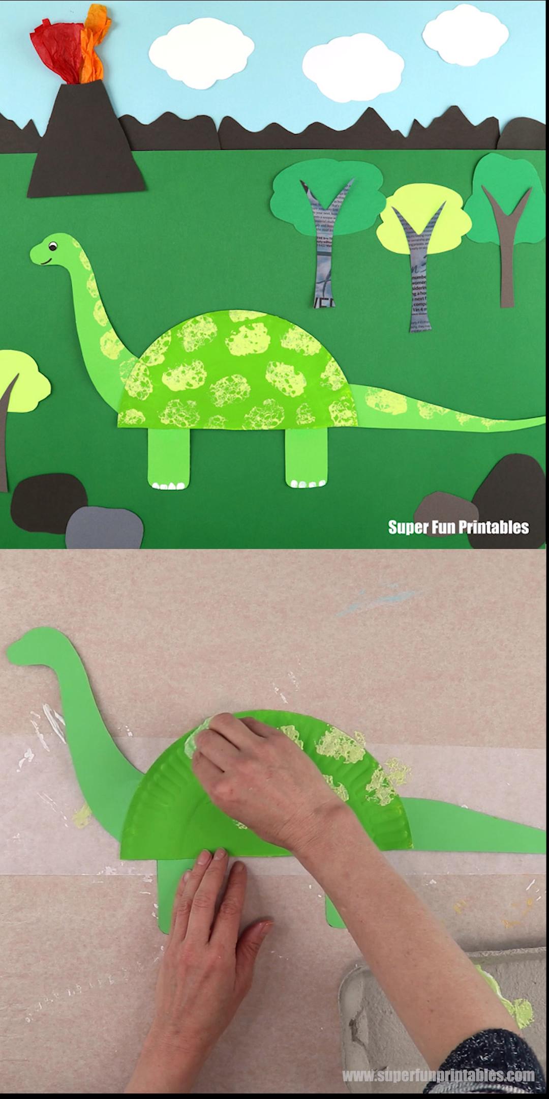Photo of #arts Paper plate dinosaur