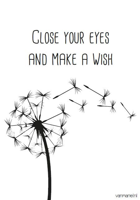 Wish Quotes Close Your #eyes And Make A #wish  Buy It At Www.vanmariel.nl .