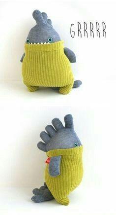I have a ton of toe socks just aching to become monsters! - #aching #monsters #Socks #socksdesign #toe #ton #crochetdinosaurpatterns