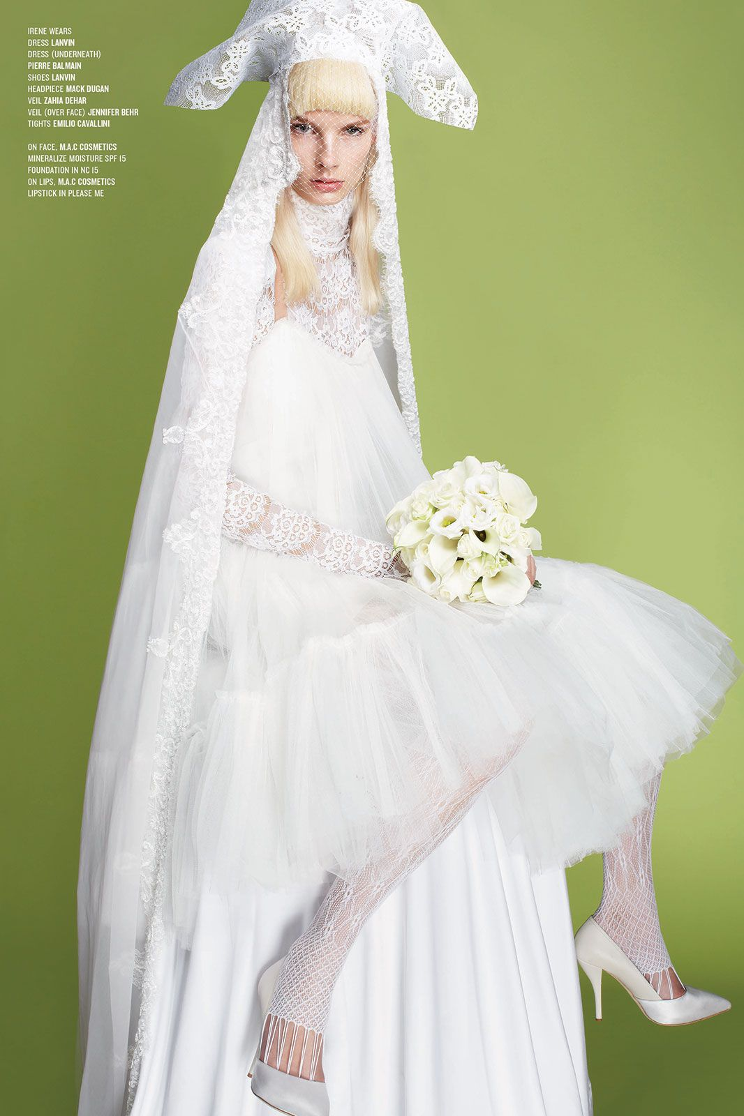 V magazine bridal fashion spread balmain cruise u magazines