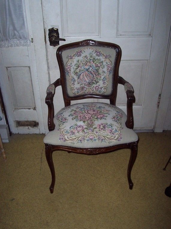 Vintage Victorian Tapestry Chair | Living Room | Pinterest ...