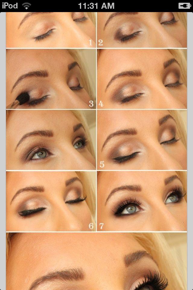Diy Eye Shadow Routine Resembling Shadow Eye Makeup Pinterest