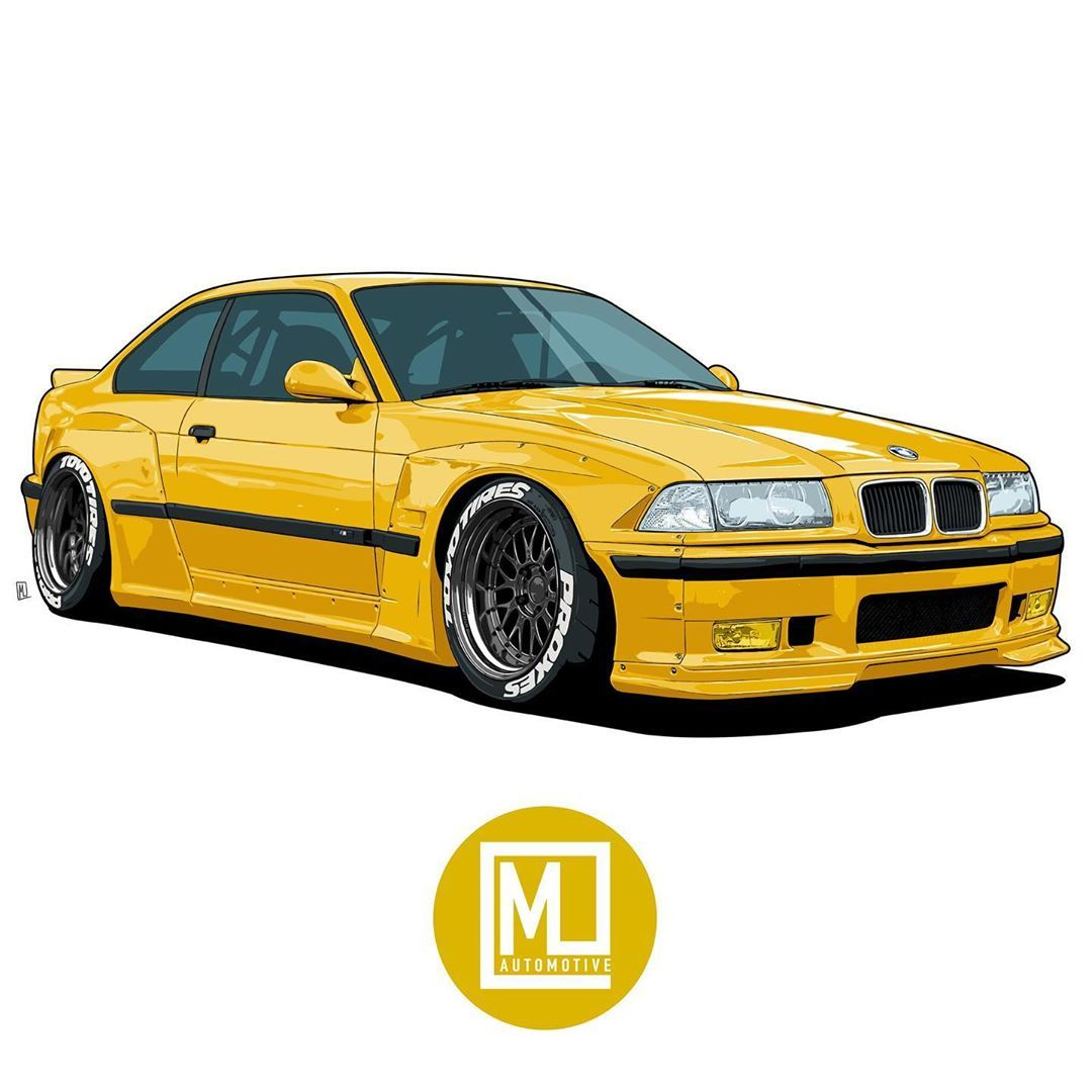 Matt Lawrence Di Instagram Bmw E36 Dm For Your Own Illustration Prints T Shirts And More In My Store Link In Bio Drawtodrive Motorar Bmw E36 Bmw Art Bmw