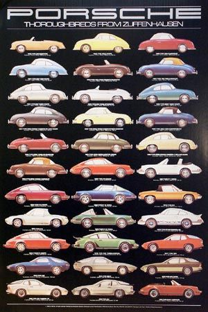 This Is A Great Visual Reference Of The Porsche Evolution The Evolution Of The One Of The Coolest Cars Ever Made Porsche Porsche Cars Classic Porsche