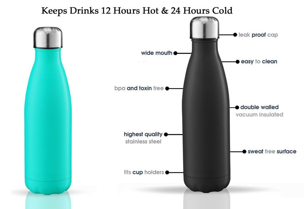 Details about 500ml Vacuum Insulated Flask Thermal Thermos