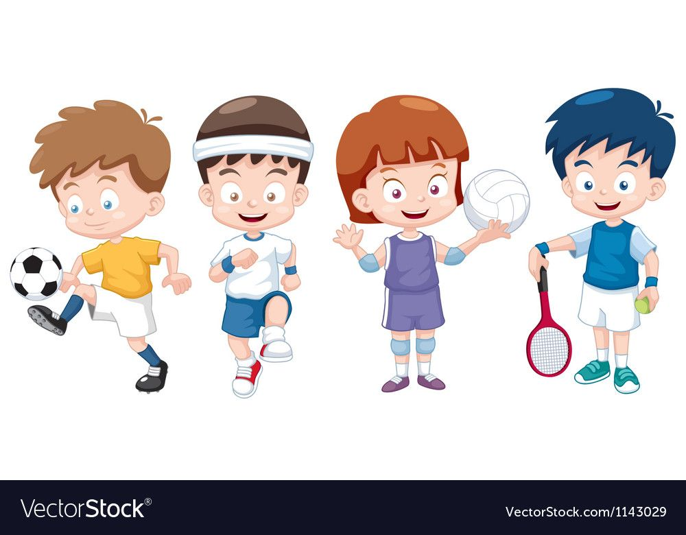 Illustration Of Cartoon Kids Sports Characters Download A Free Preview Or High Quality Adobe Ill Illustration Cartoon Deportes De Ninos Ninos Dibujos Animados
