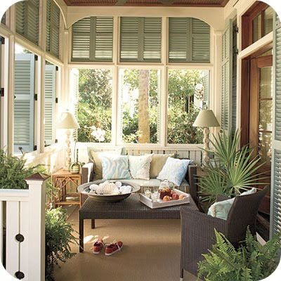 Outdoor living space-so pretty
