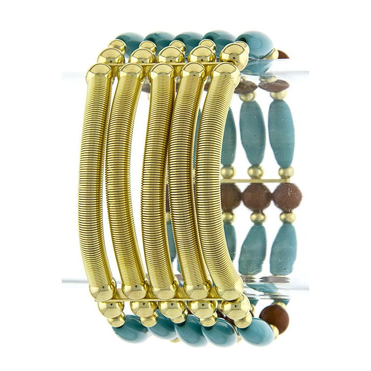 The Rustic Shop - Brown Multi-Layer Mix Bead Stretch Tribal Bracelet, $16.99 (http://www.therusticshop.com/brown-multi-layer-mix-bead-stretch-tribal-bracelet/)