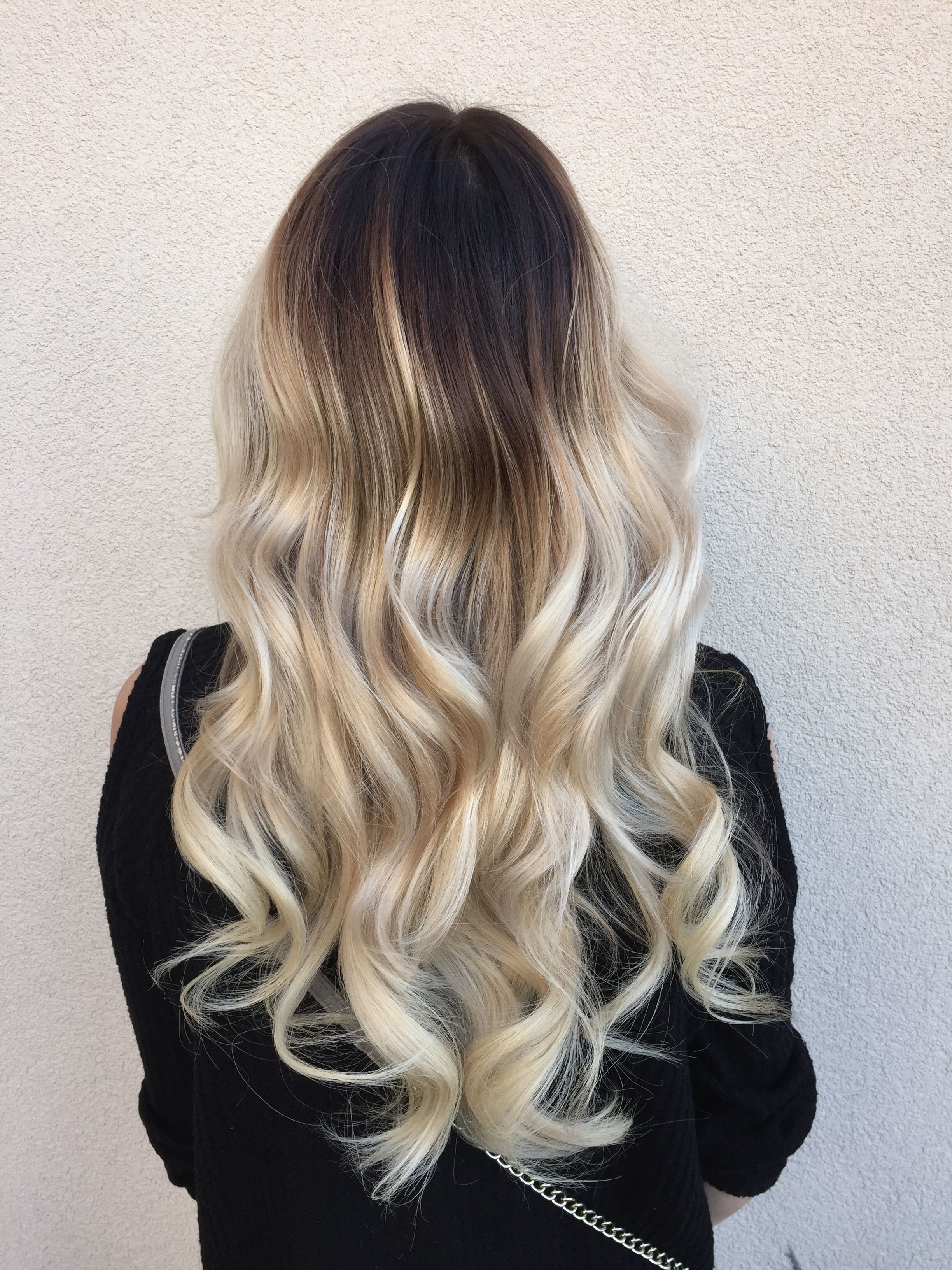Dark To Platinum Balayage Ombre Hairbyashcha Platinumombre With