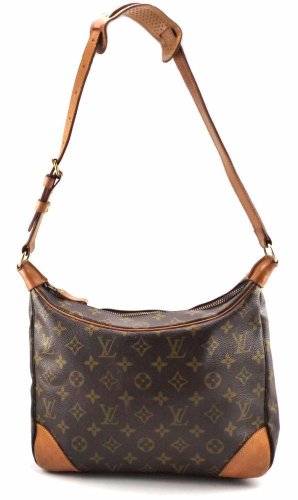 7d665c9718d7 Louis Vuitton Authentic Vintage Boulogne 30 Monogram Canvas Shoulder Bag