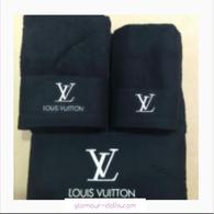 Black Louis Vuitton 3pc Towel Set