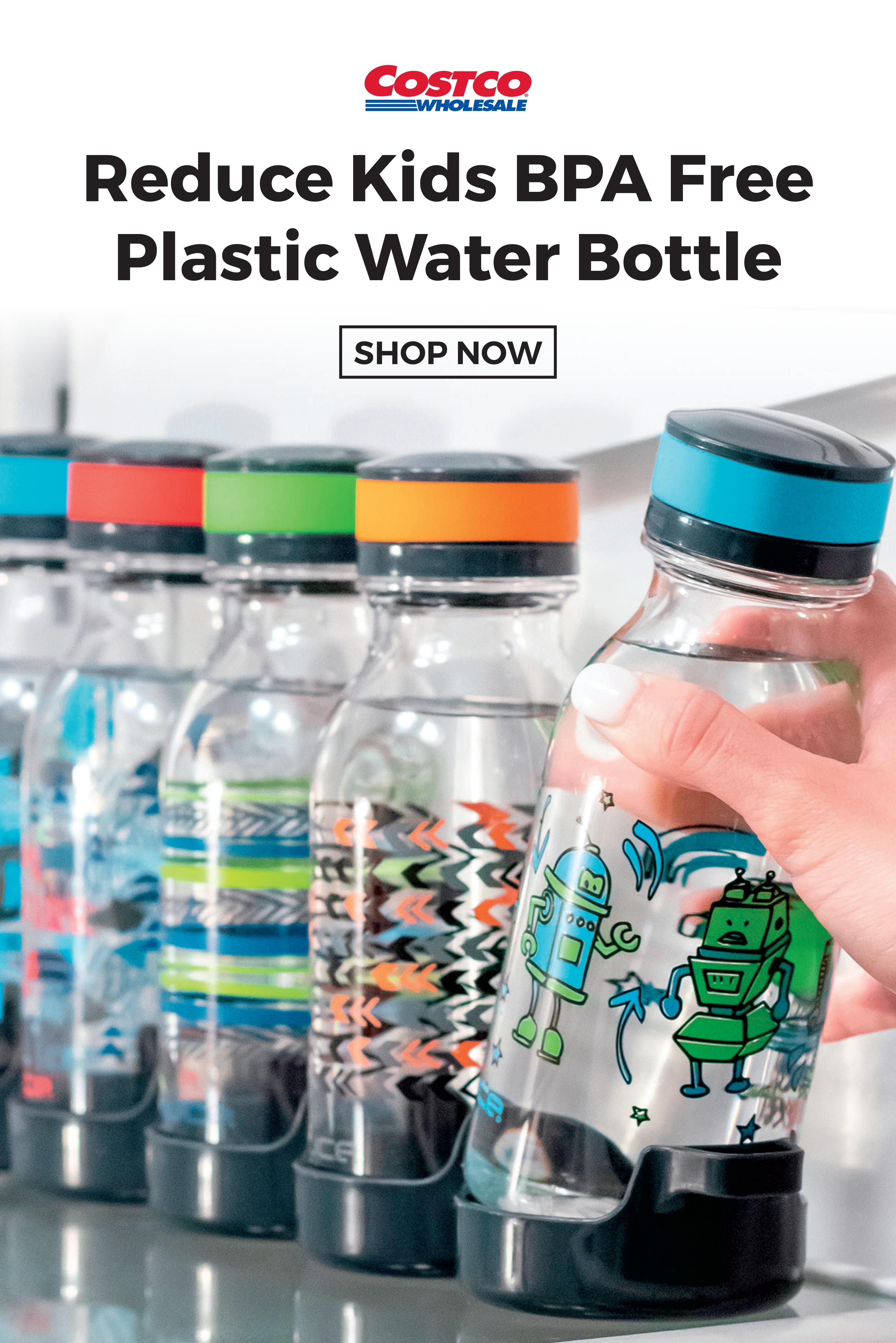 Reduce Kids Bpa Free Plastic Water Bottle 14oz 5 Pack In 2020 Water Bottle Bpa Free Plastic Plastic Water Bottle