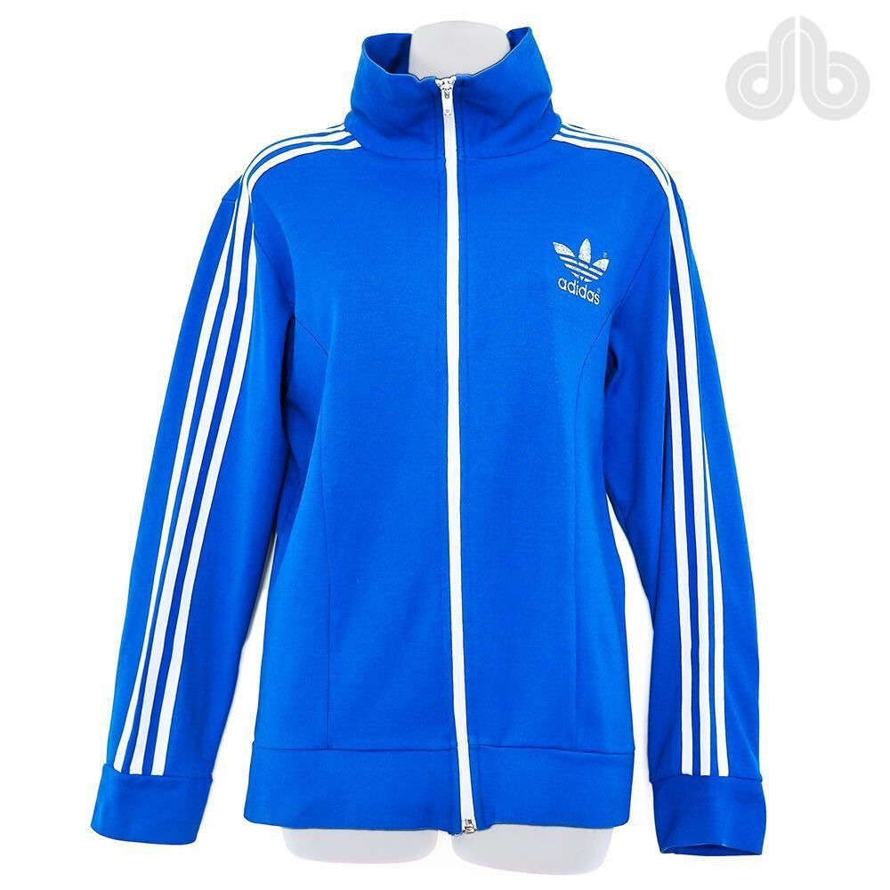 2285ba755 RARE Vintage ADIDAS 70s Europa Track Top Tracksuit Jacket Oldschool Retro  Sportswear Unisex Blue White D6