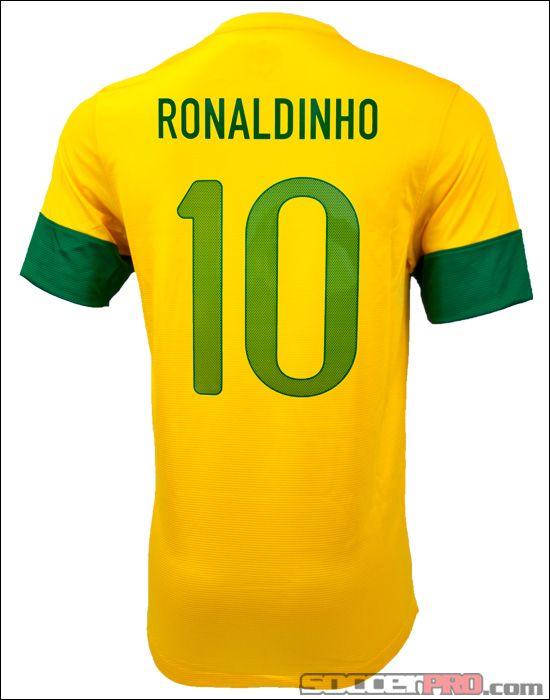 ee0dafcf6ef Nike Youth Brazil Ronaldinho Home Jersey 2012... 94.99