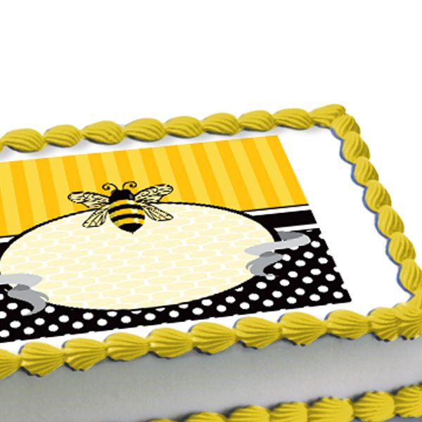 Bumble Bee Edible Image Cake Decoration