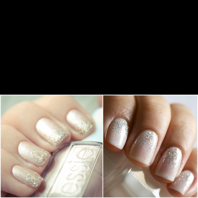 Essie glitter mani. I need this with a gel mani for my wedding day!