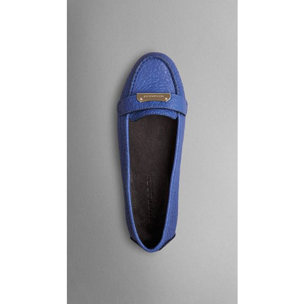 Burberry Signature Grain Leather Loafers