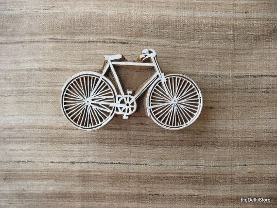 Vintage Bicycle Stamp For Printing on Paper / by theDelhiStore