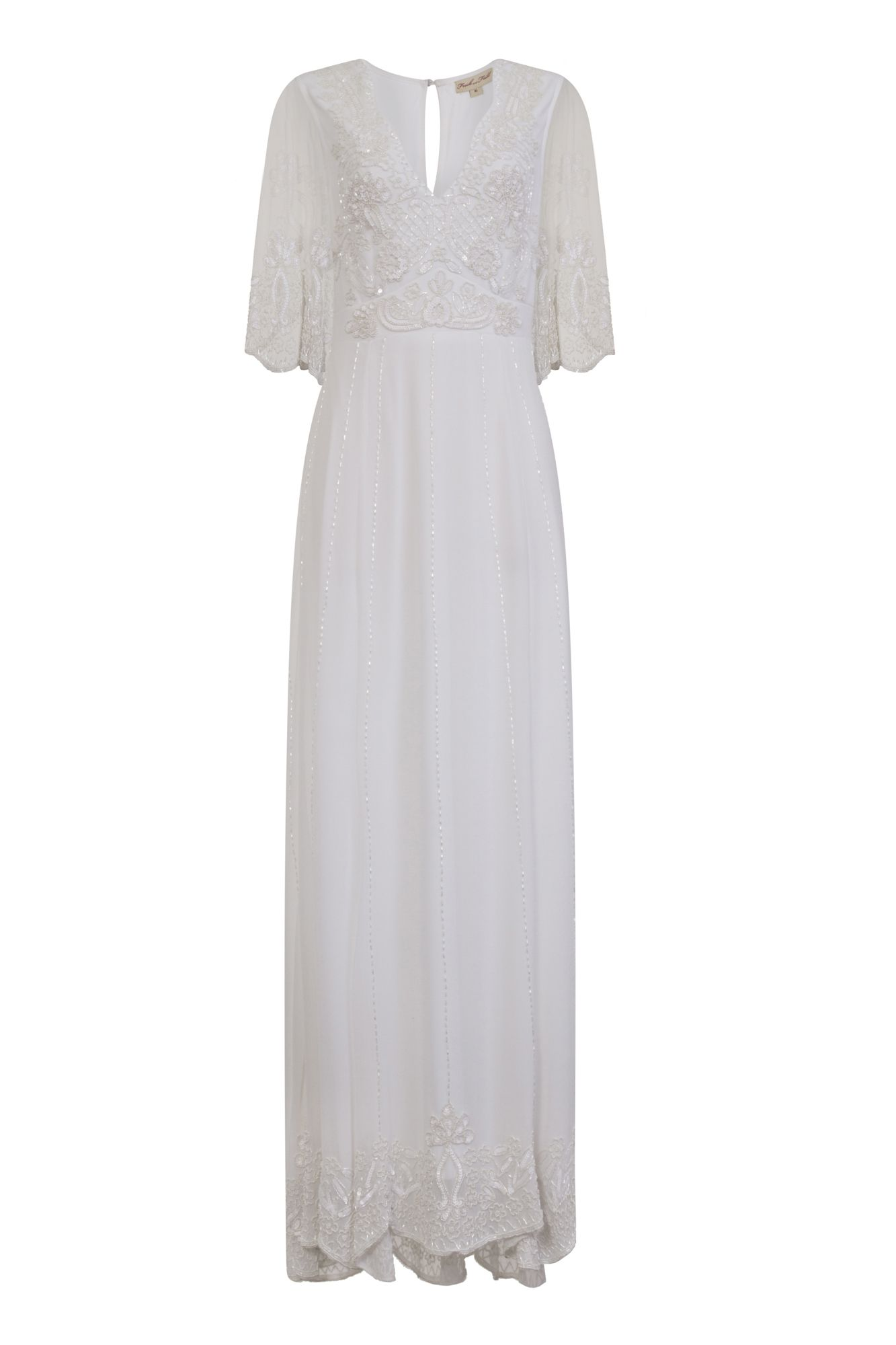 d91a5bec01f Frock and Frill Eliza White Sequin Maxi Dress