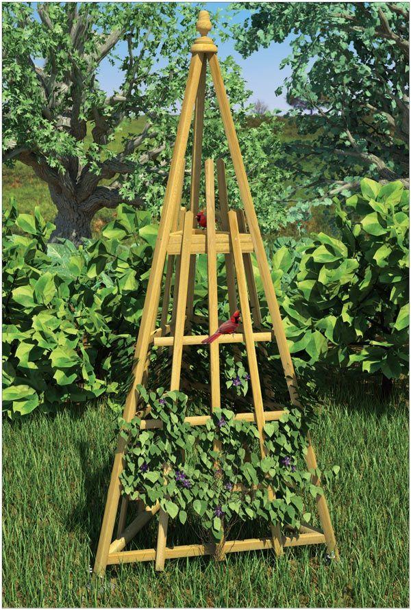 Garden Trellis And Bird Feeder With Images Garden Trellis