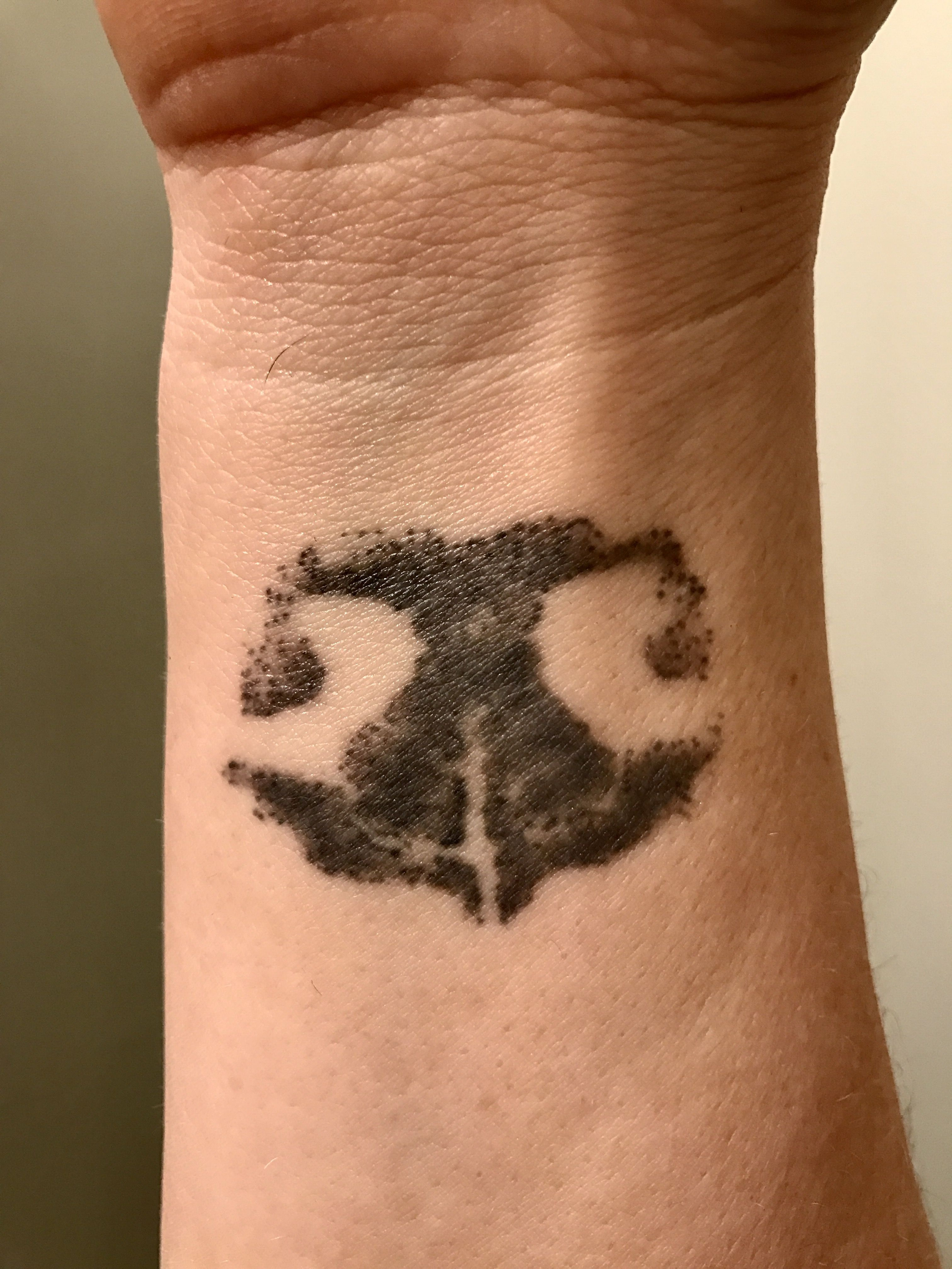 Blue Dog Paw Print Tattoo - Year of Clean Water