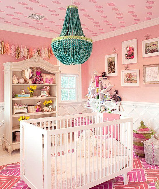 The Ultimate Pink Nursery C O Kourtney Kardashian 16 More Amazing Celeb Nurseries Baby Celebs