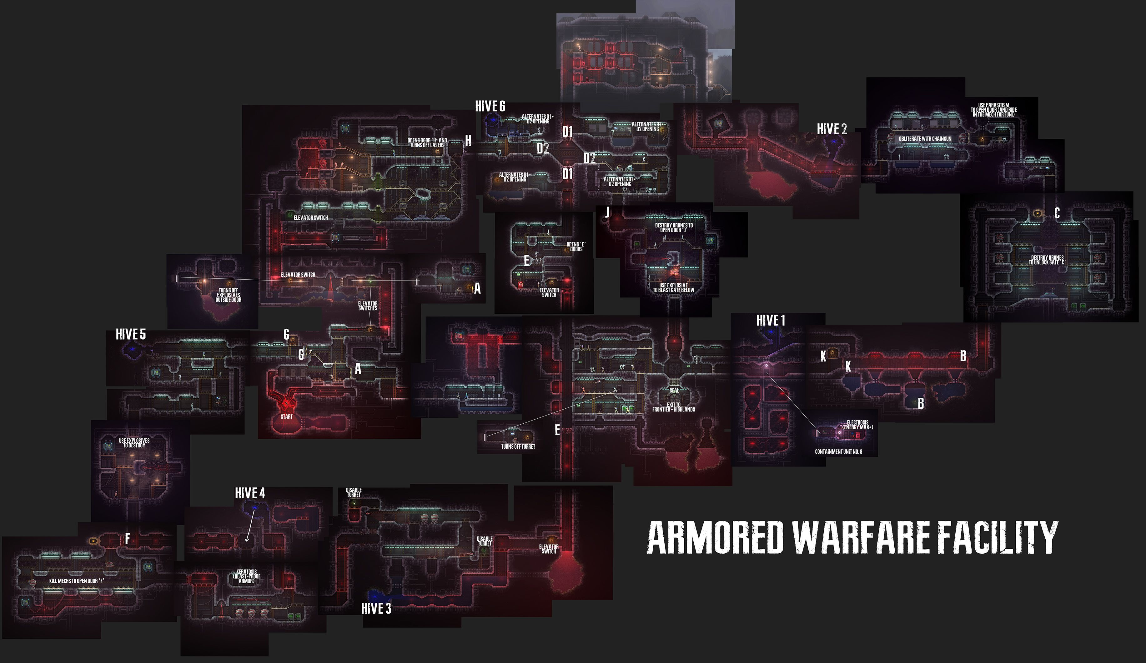 Carrion Complete Map For All Areas Gamer Tag Zero