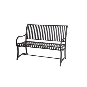 Hampton Bay Slat Patio Bench L PB136PST at The Home Depot