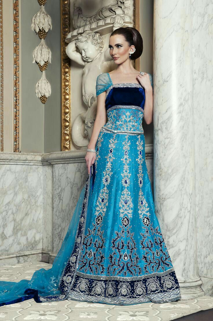 blue gown | Reception gowns | Pinterest | Blue gown, Gowns and ...