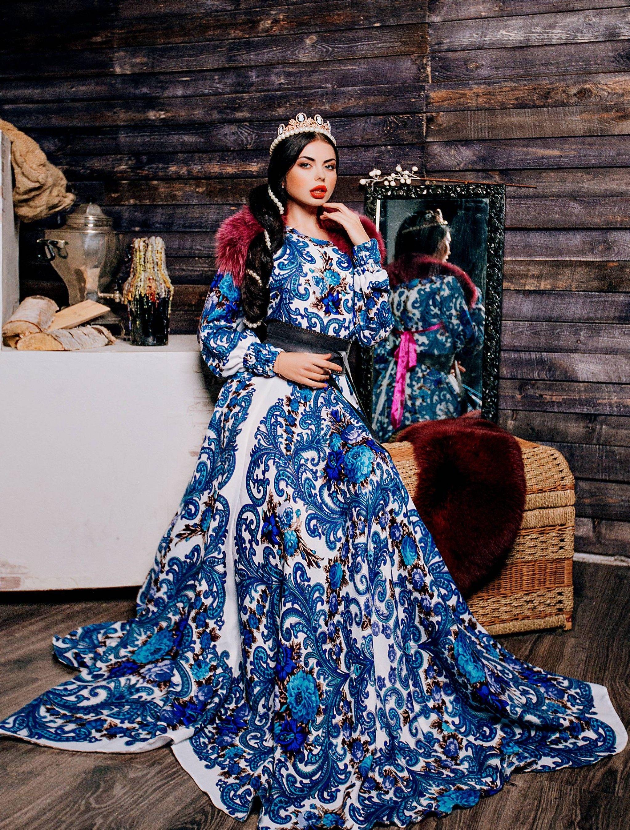 Платье из платков в картинках