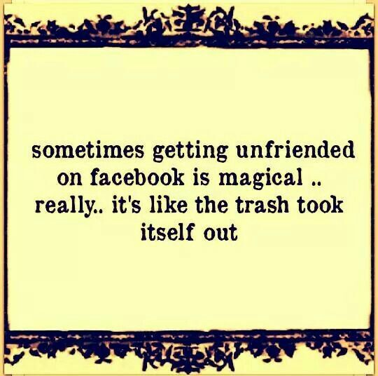 So True I Was Unfriended By An Ex Sister In Law Yep The Trash Took Itself Out Sarcastic Quotes Law Quotes Rebound Relationship