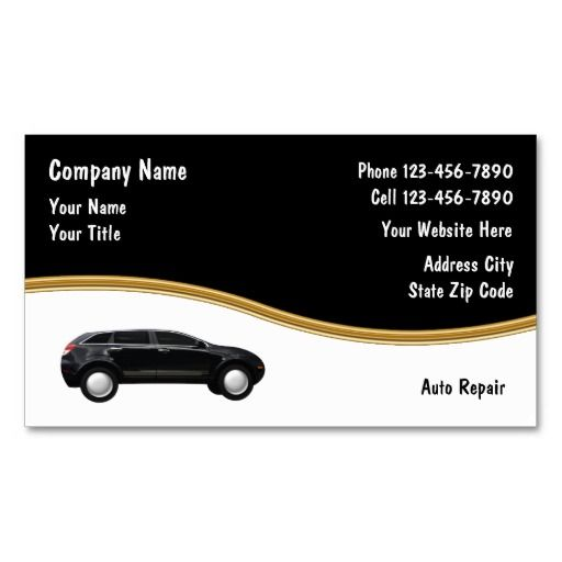 Auto Repair Business Cards Zazzle Com In 2020 Auto Repair
