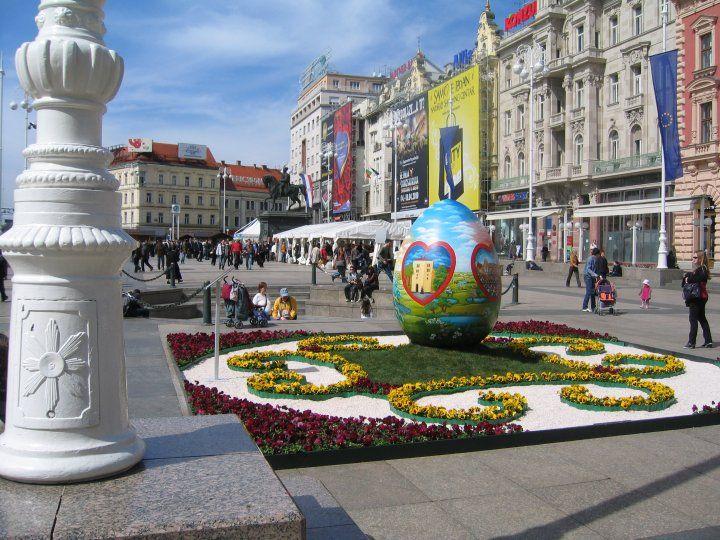 Easter Eggs In Zagreb Easter Eggs Zagreb Cloud Gate