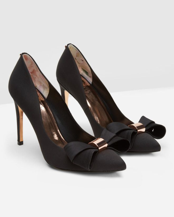 Statement bow court shoes - Black | Shoes | Ted Baker